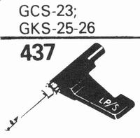 GARRARD GCS-23, GKS-25/26 Stylus, sapphire normal (78rpm) +