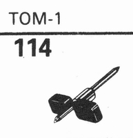 GARRARD TOM-1 Stylus, sapphire normal (78rpm) + sapphire ste