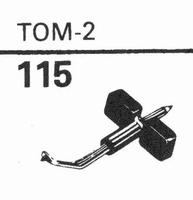 GARRARD TOM-2 Stylus, sapphire normal (78rpm) + sapphire ste
