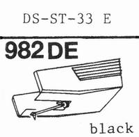 HITACHI DS-ST-33 E Stylus, diamond, elliptical, original