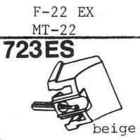 HITACHI F-22 EX, MT-22 Stylus, diamond, elliptical