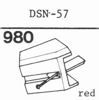 JAP.COL.DSN-57, SANYO STG-9 Stylus, diamond, stereo