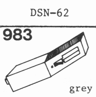 JAPAN COLUMBIA (DENON) DSN-62 Stylus, DS<br />Price per piece