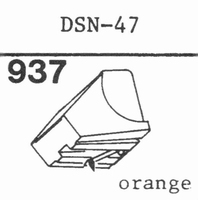 JAPAN COLUMBIA DSN-47 Stylus, diamond, stereo