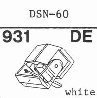 JAPAN COLUMBIA DSN-60 Stylus, diamond, elliptical