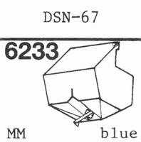 JAPAN COLUMBIA DSN-67 Stylus, diamond, stereo