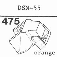 JAPAN COLUMBIA/DENON DSN-55 E Stylus, diamond, elliptical