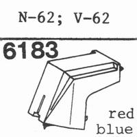KENWOOD N-62 RED Stylus, diamond, stereo