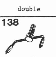 LENCO DOUBLE Stylus, sapphire normal (78rpm) + sapphire ster
