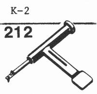 LESA K-2 Stylus, sapphire normal (78rpm) + sapphire stereo