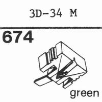 MITSUBISHI 3D-34 M Stylus, diamond, stereo