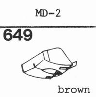 MITSUBISHI MD-2, 3D-37 M Stylus, diamond, stereo