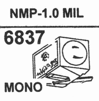 NAGAOKA NMP-1.01.0 MIL MONO Stylus, DM-OR