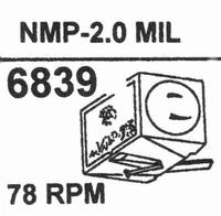 NAGAOKA NMP-2.02.0 MIL TIP Stylus<br />Price per piece