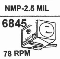 NAGAOKA NMP-2.52.5 MIL TIP Stylus<br />Price per piece