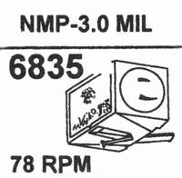 NAGAOKA NMP-3.0 78 RPM DIAMOND Stylus, DN-OR