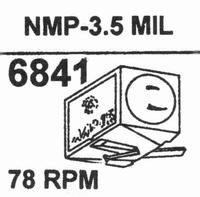 NAGAOKA NMP-3.53.5 MIL TIP Stylus<br />Price per piece