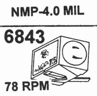 NAGAOKA NMP-4.04.0 MIL TIP Stylus<br />Price per piece