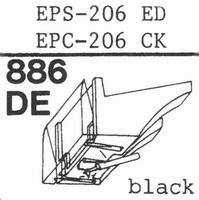 NATIONAL EPS-206 ED Stylus, diamond, elliptical