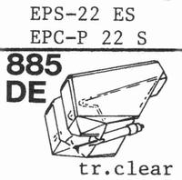 NATIONAL EPS-22 ES, EPS-23 ES, Stylus, diamond, elliptical