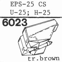 NATIONAL EPS-25 ES, Stylus, diamond, elliptical