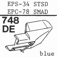NATIONAL EPS-34 STSD Stylus, elliptical, diamond, elliptical