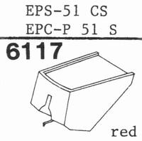 NATIONAL EPS-51 ES, Stylus, diamond, elliptical
