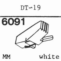 NIVICO DT-19 WHITE Stylus, diamond, stereo
