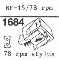 ORTOFON F/FF SERIES 78 RPM Stylus, DN