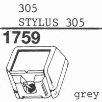 ORTOFON STYLUS 305 Stylus, ORIGINAL<br />Price per piece