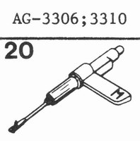 PHILIPS AG-3310 Stylus, sapphire stereo + diamond stereo