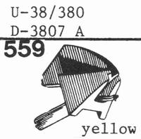 PICKERING D-3807 A78-RPM DIA Stylus, Diamond, normal (78rpm)