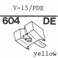 PICKERING PDE Stylus, diamond, elliptical