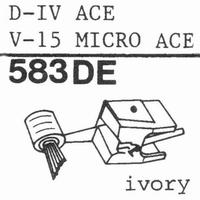 PICKERING V-15 PHASE IV Stylus, diamond, elliptical