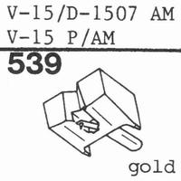 PICKERING V-15/D-1507 AM Stylus, diamond, stereo