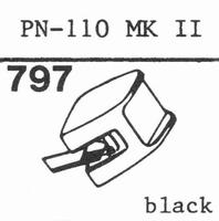 PIONEER PN-110 MK II Stylus, diamond, stereo