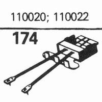R.C.A. 110020, 110022 Stylus, sapphire normal (78rpm) + sapp