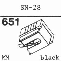SANSUI SN-28 Stylus, diamond, stereo