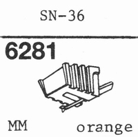 SANSUI SN-36 ORANGE Stylus, diamond, stereo