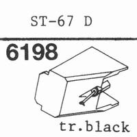 SANYO ST-67 D TRANSP BLACK Stylus, diamond, stereo