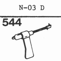 SHARP N-03 D Stylus, sapphire normal (78rpm) + sapphire ster