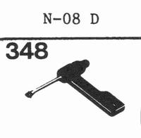 SHARP N-08 D Stylus, sapphire normal (78rpm) + sapphire ster