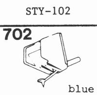 SHARP STY-102 Stylus, diamond, stereo