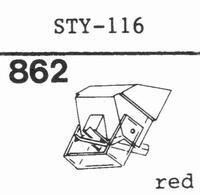 SHARP STY-116 Stylus, diamond, stereo