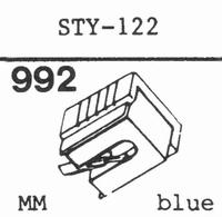 SHARP STY-122 Stylus, diamond, stereo