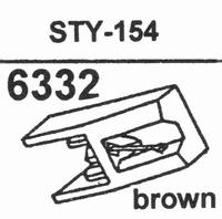 SHARP STY-154 BROWN Stylus, diamond, stereo