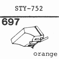 SHARP STY-752 Stylus, diamond, stereo