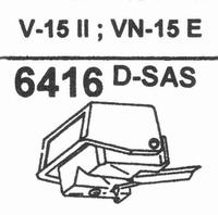 SHURE VN-15 (V-15 TII)-SAS TIP Stylus, D-SAS
