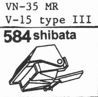 SHURE VN-35 MR (V-15 III MR) Stylus, SHIBATA