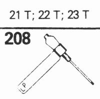 SONOTONE 21-T, 22-T, 23-T Stylus, diamond, stereo 2x